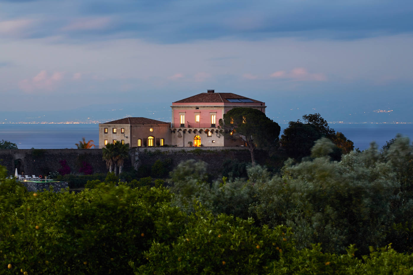 The villa in Sicily where Christian Puglisi will host two cooking workshops in 2021.
