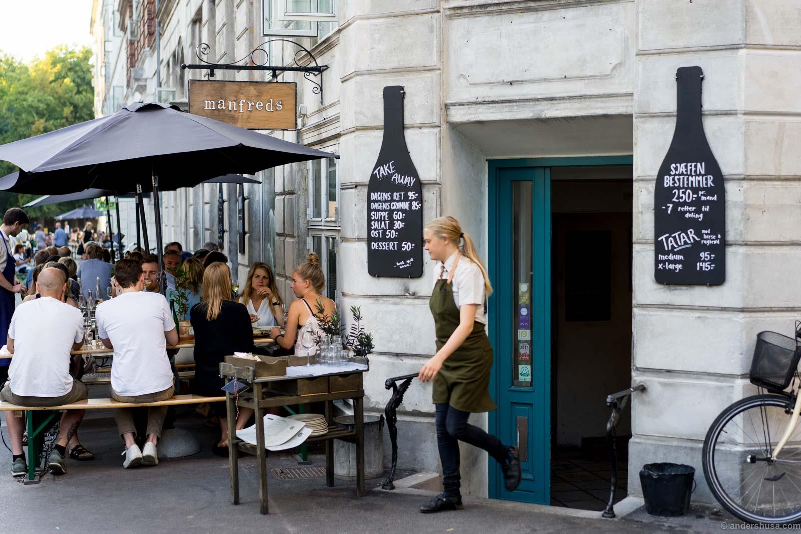 Manfreds in trendy Copenhagen neighbourhood Norrebro.